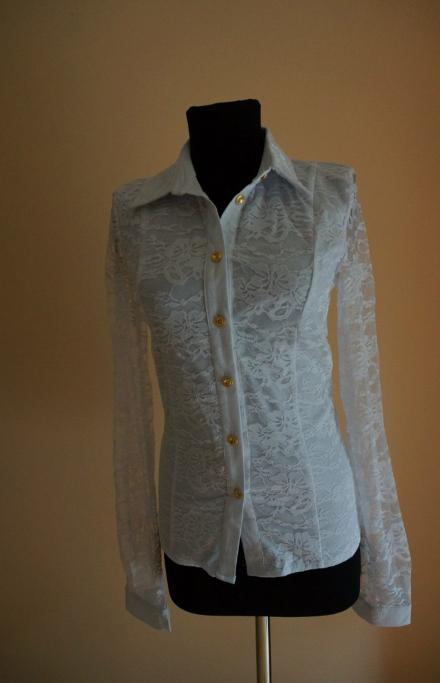 Рубашка белая с пуговицами