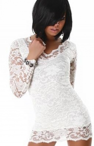 Клубное ажурное платье