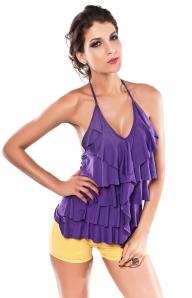 Фиолетовый топ с открытой спиной
