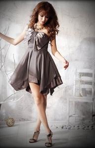 Стильное платье стального цвета