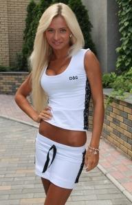 Летний белый костюм
