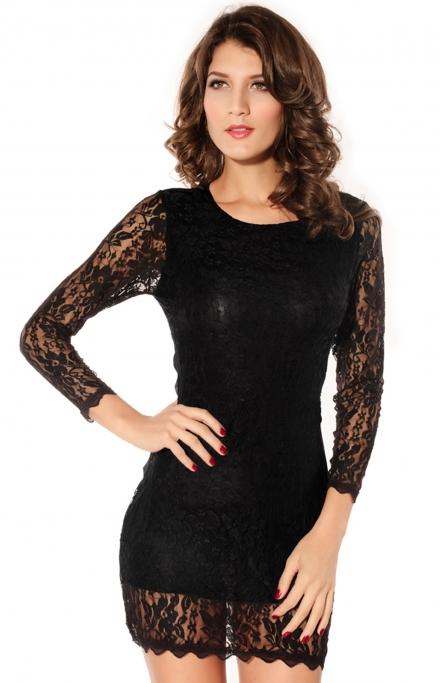 Эротическая черная сорочка