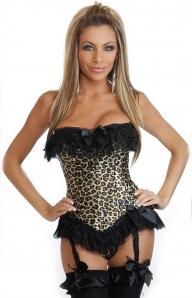 Леопардовый корсет